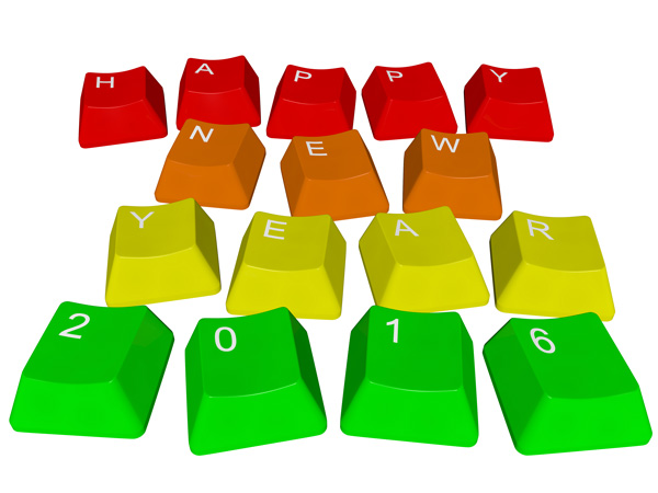 Happy New Year 2016 - keys