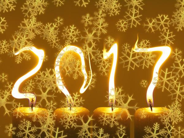 pf 2017 Šťastný Nový Rok - vločky