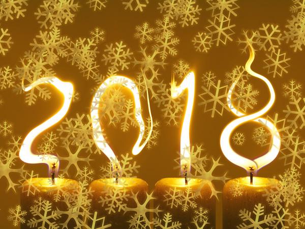 pf 2018 Šťastný Nový Rok - vločky