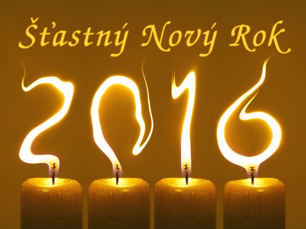 pf 2016 svíčky Šťastný Nový Rok
