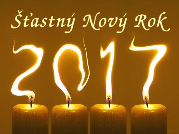 pf 2017 svíčky Šťastný Nový Rok