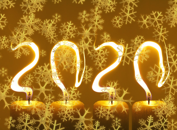 pf 2020 Šťastný Nový Rok - vločky