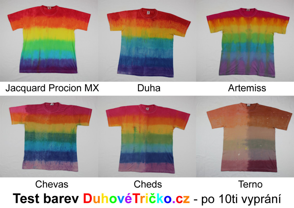 Výsledek testu barev Duhové tričko.cz